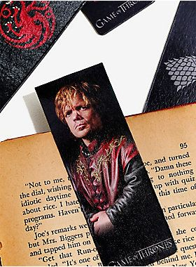 """<div>Re-reading <i>A Dance With Dragons </i>while you wait for <i>The Winds of Winter</i>? We understand. These magnetic bookmarks are the perfect way to mark your pages as you make your way through Westeros. Featuring Arya Stark, Jaime Lannister, Tyrion Lannister, and Daenerys Targaryen on one side, and their house sigil on the other, you can read with your favorite characters.<br></div><ul><li style=""""LIST-STYLE-POSITION: outside !important; LIST-STYLE-TYPE: disc !important"""">Includes ..."""