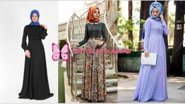 Zarif Tesettür Elbise Modelleri-Kampanyalı Tesettür Elbiseler