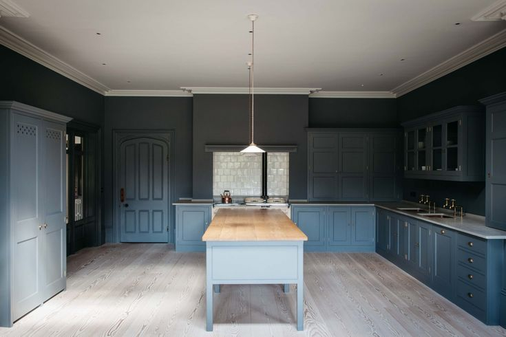 Best Duck Egg Blue Wooden Kitchen With White Countertops 400 x 300