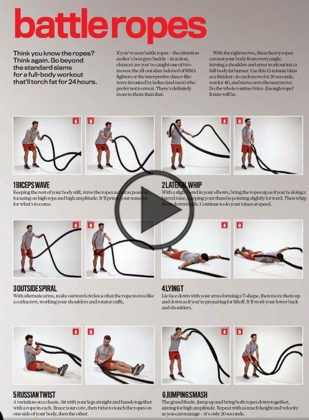 Battle Ropes Exercises Battle Rope Workout Battle Ropes Rope Exercises