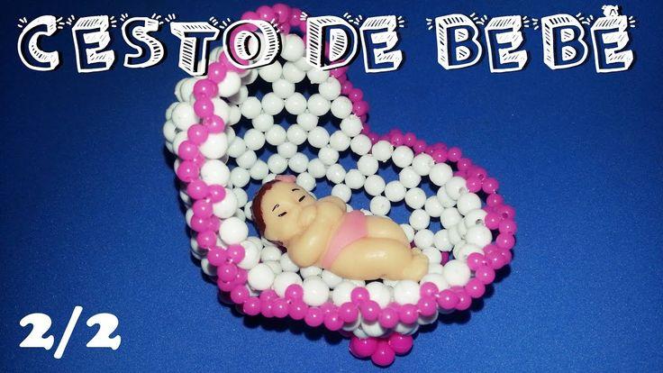 Cesto de Bebê com Miçangas 2/2 - Passo a Passo | Lembrancinha