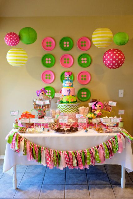 Incredible LalaLoopsy Birthday Party!  See more party ideas at CatchMyParty.com!