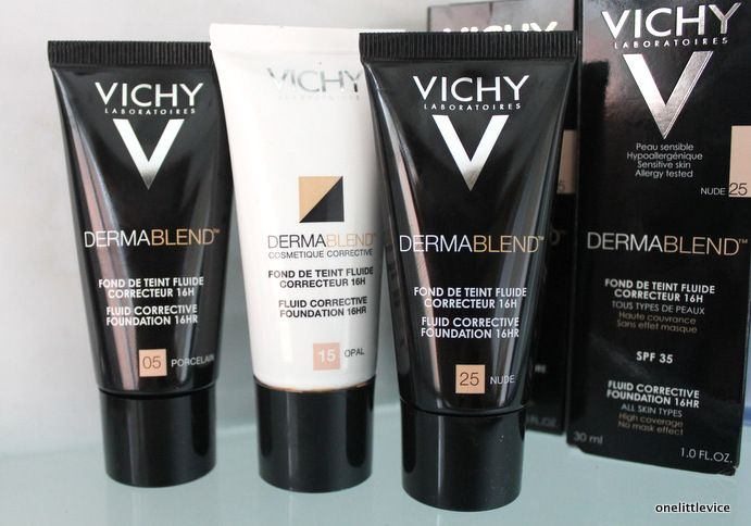 Vichy Dermablend Foundation Swatches and Review