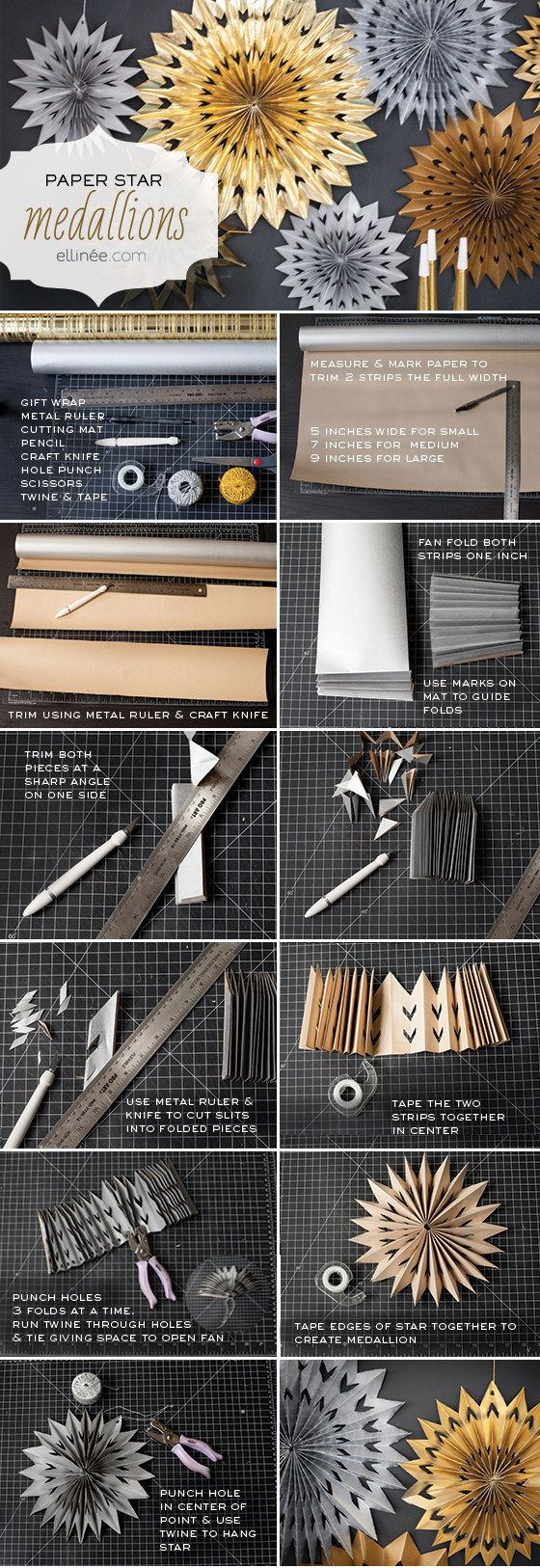 Haz algunos medallones de papel. | 19 formas ingeniosas de usar el papel de regalo que te sobra