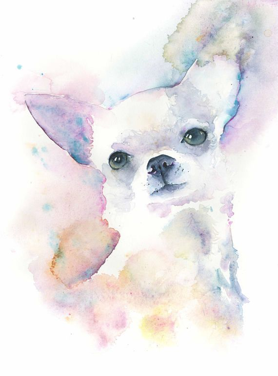 Chihuahua Dog Painting/Chihuahua art print/Pet Portrait