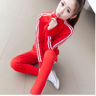 2016women casul suit female spring and autumn long-sleeved sweater Slim leisure park suit sportswear casual suit