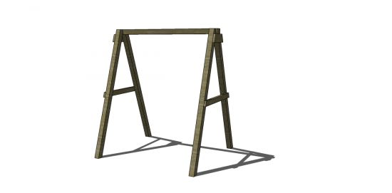 Free DIY Furniture Plans to Build a Swing A-Frame | The Design Confidential
