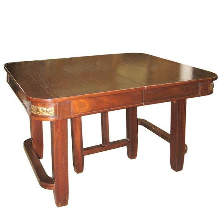 1930s Art Deco Mahogany Dining Table | 1stdibs.com
