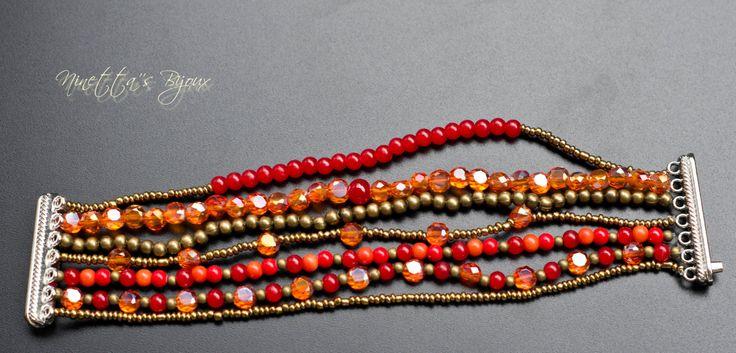 Bracciali estivi con perline colorate e chiusura a calamita di NinettaBijoux su Etsy