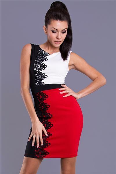 DRESS - RED člna krk, módne zdobené výstrih, bez rukávov, mini dĺžka, silné pásky, tvorený z elastického úpletu, pastelové farby, vysoko kvalitné textilné, čipky vpredu, zaujímavá kombinácia látok a dizajnov, vybrané paluba http://www.cosmopolitus.com/emamoda-sukienka-czerwony-78101-p-116712.html?language=sk&pID=116712 #mini #sukne #saty #elegantne #modne #sportove #lacne #jednoduchy #vzplanula