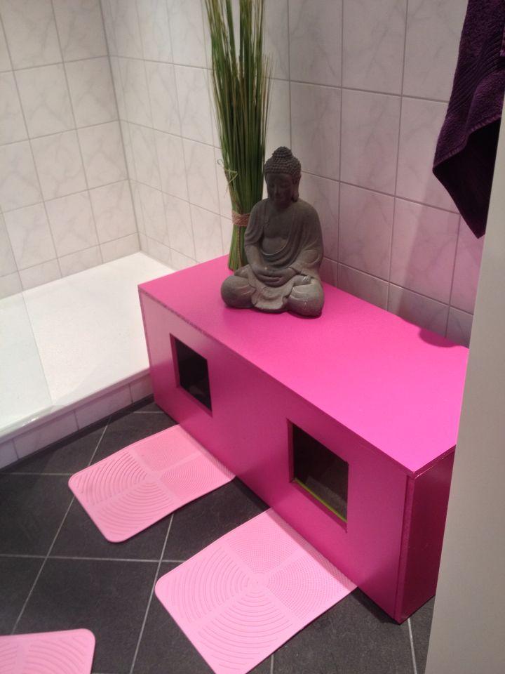 Katzentoilette pink