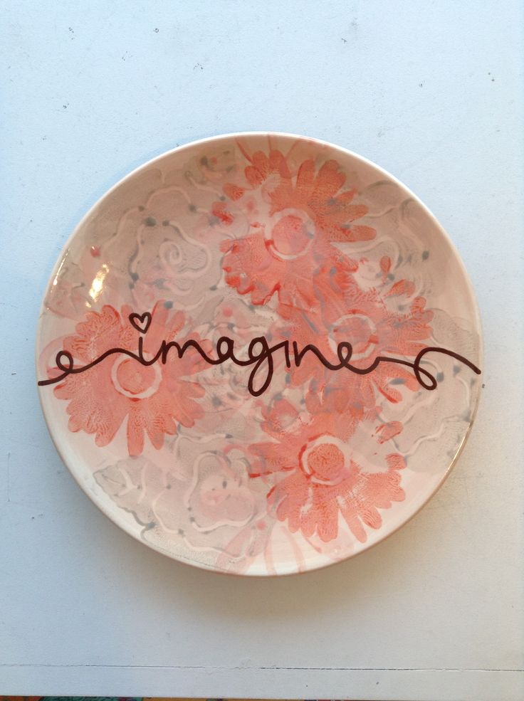 Imagine Plate | Paint Your Own Pottery | Paint Your Pot | Cary, North Carolina