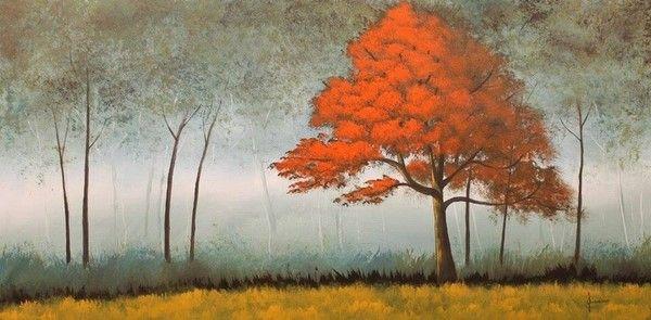 Titolo: Rosso solitario, Tecnica: Acrilico, Dimensione: 50x30, Artist: Erino Sciarrino