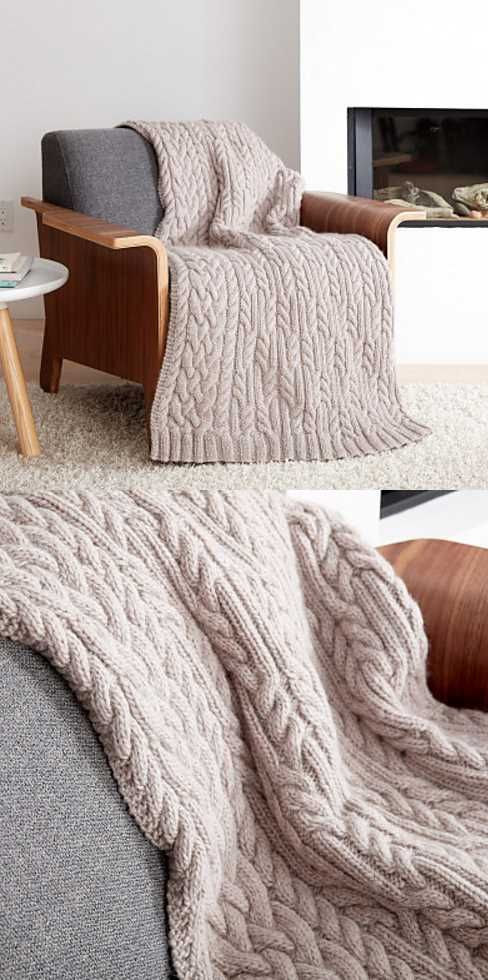 Cross Roads Cable Knit Blanket Free