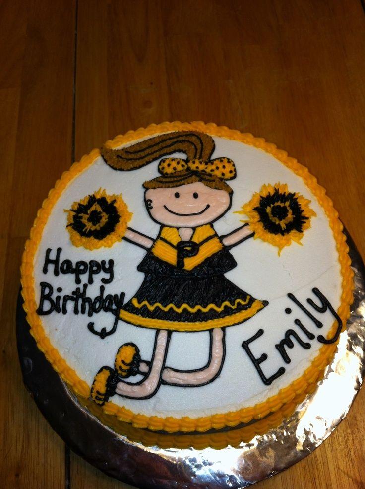 Purdue Cheerleader Birthday  Cake Diva Cakes cakepins.com