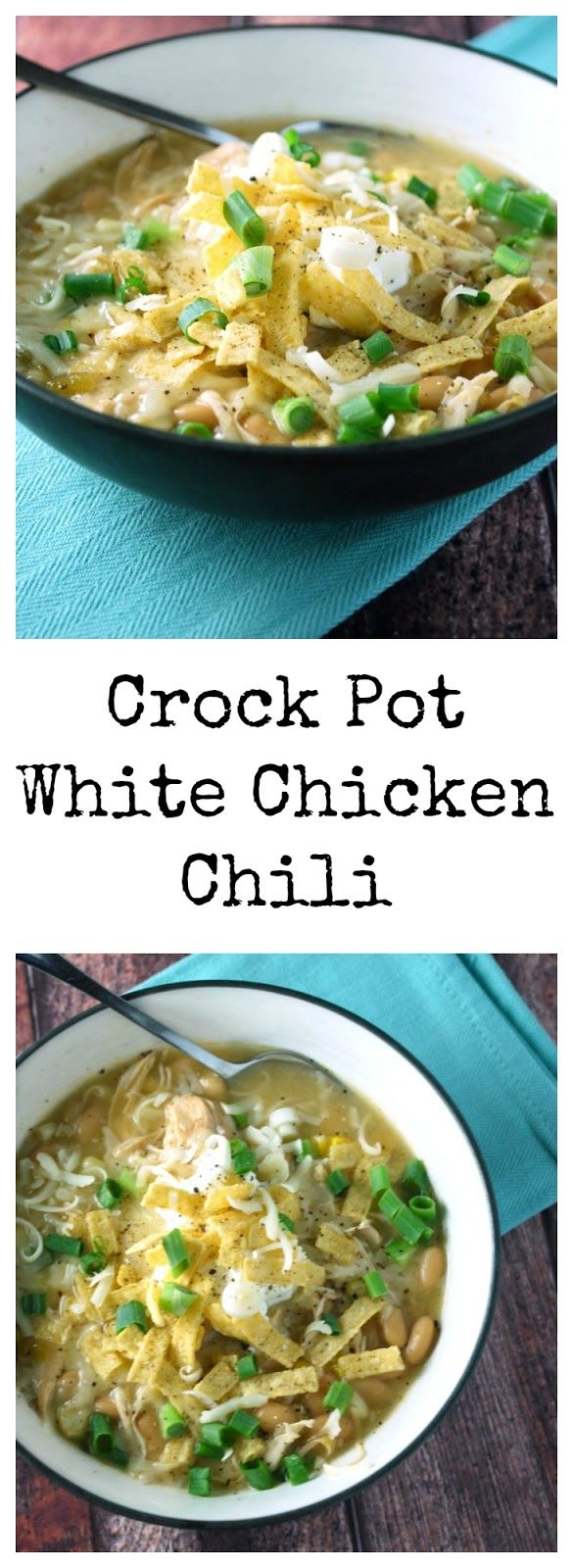 This easy Crock Pot White Chicken Chili is so simple yet so delicious! Definitely putting this on the meal plan!