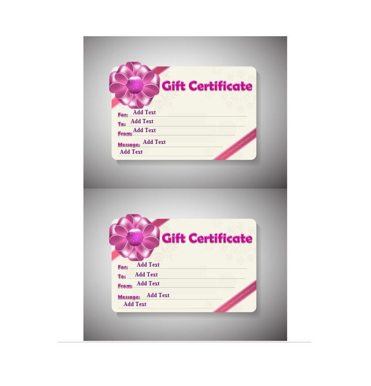 97 Fitness Gift Certificate Template Personal Training Gift
