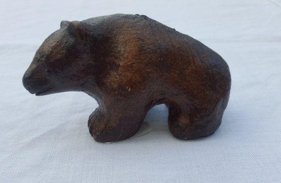 Swedish Carl Roos Hammerdal bear figurine by ElineaVintage on Etsy