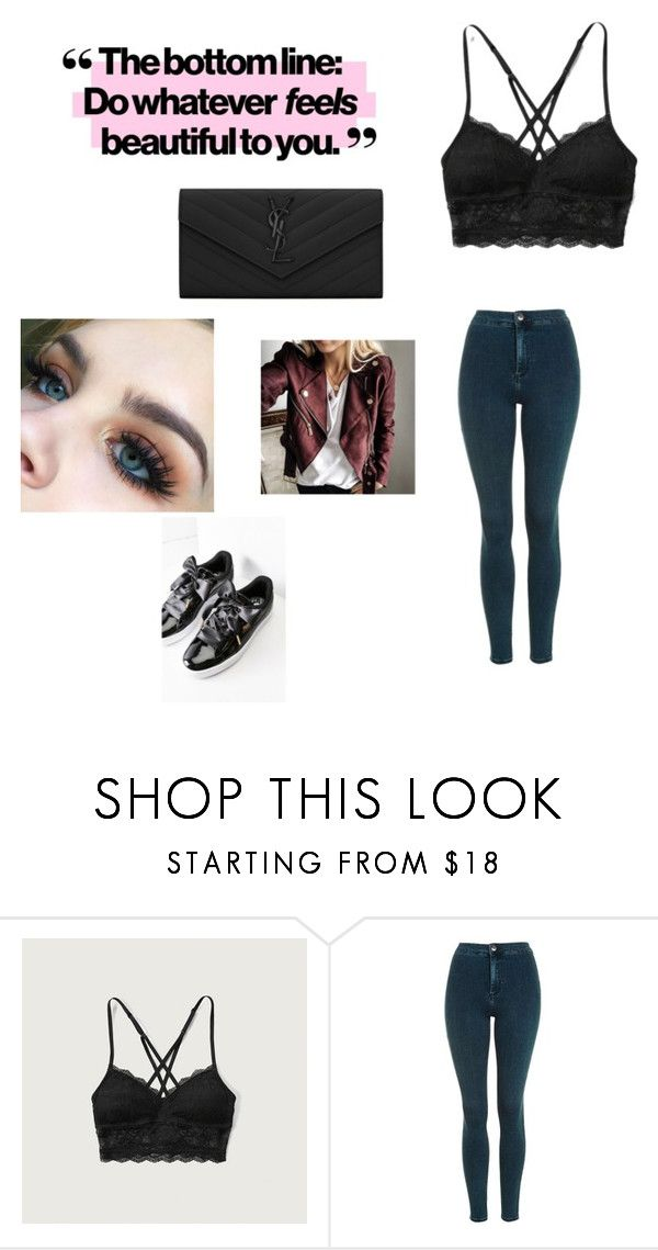 """""""Es Sheeran concert Hamburg"""" by sorosy ❤ liked on Polyvore featuring Abercrombie & Fitch, Topshop and Yves Saint Laurent"""