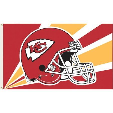 Kansas Chiefs Helmet 3' x 5' Flag, Multicolor