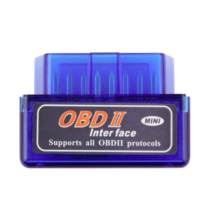 Mini ELM327 OBD2 Bluetooth V2.1 OBDII Auto Scanner untuk Android Torsi Mobil Kendaraan Antarmuka Diagnostik Scanner drop pengiriman