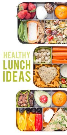 Healthy Lunch Ideas To keep you on track! Click through to see all the options!  Back To Her Roots