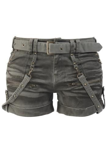 Studded Hotpants - Black Premium by EMP Short Sexy