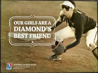 National Pro Fastpitch ad: Fastpitch Softball, Fastpitch Ad, Played Hard, Softball Baseball, Pro Fastpitch, Softball Played, Softball 3, Softball ️