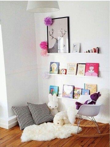 Cute idea for a reading nook
