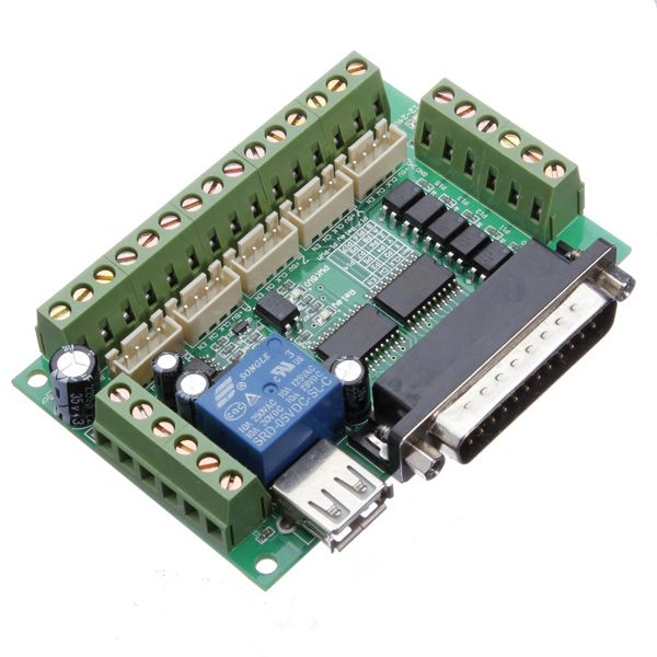 Geekcreit® 5 Axis CNC Breakout Interface Board For Stepper Driver Mach3 With USB Cable