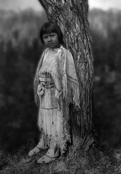 Apache Child.  Photo by Edward S. Curtis.