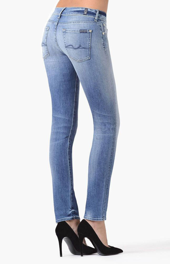 New Ladies 7 For All Mankind Roxanne Stretch Slim Jeans Women 30