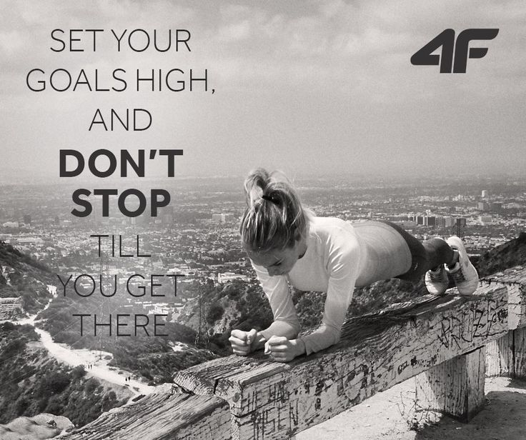 Set your goals high and don't stop till you get there. #quotes
