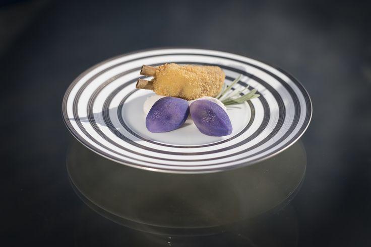 Wedding dinner Velvet potatoes and crunchy lamb
