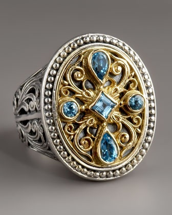 Blue Topaz Ring by Konstantino at Neiman Marcus.