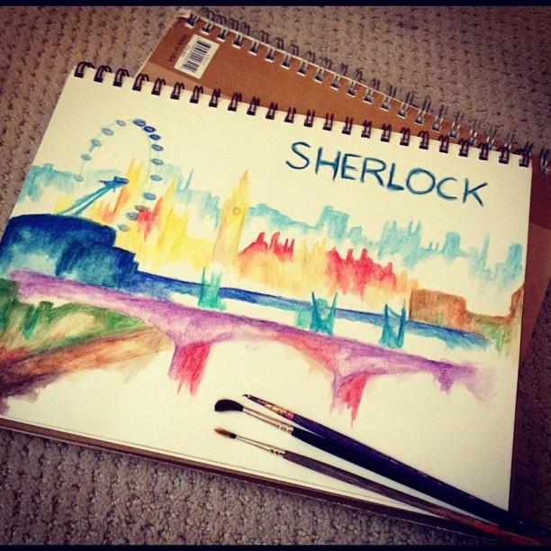 Sherlock skyline. Wow, I wish I could do that...