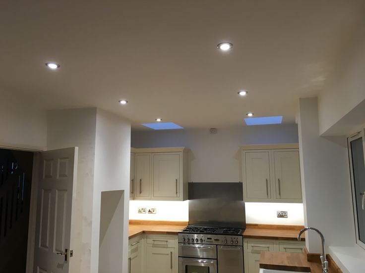 JCC   Down Lights That I Fitted Into This Kitchen, Incidentally I Also  Fitted The Sockets And Under Cabinet Lighting.