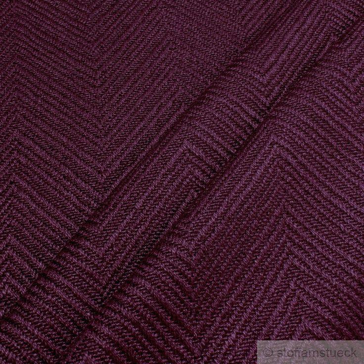 Leinen / Baumwolle / Polyester Fischgrat bordeaux Farbe Farbe Rot