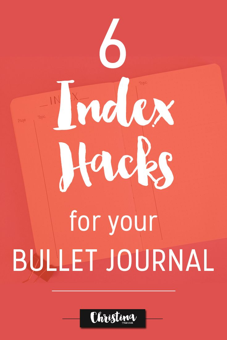 Showing you how to make your Index Page in your bullet journal even more functional with a few simple Index hacks. - www.christina77star.co.uk