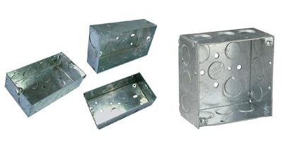 #SwitchandSocketBoxes  Electrical Boxes, Steel Boxes, Conduit Box Boxes, Electrical Conduit Boxes Octagonal Boxes are used in the installation of ceiling or wall lighting fixtures. Extension rings provide a means for adding additional cubic capacity or as an outlet box for surface conduit. Boxes may be used in the installation of lighting fixtures.