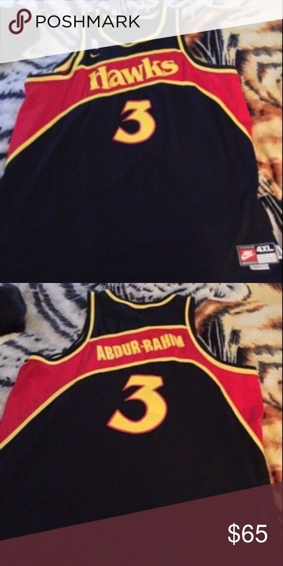 SHAREEF ABDUR-RAHIM ATLANTA HAWKS Jersey 4xl xxxx Like new condition, worn once. Size 4xl. Made by Nike. Local pickup available. Nike Other