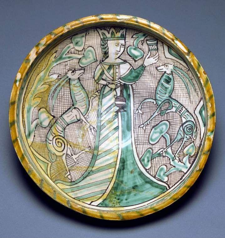 Medieval Majolica.  13-14 Century.  Italy