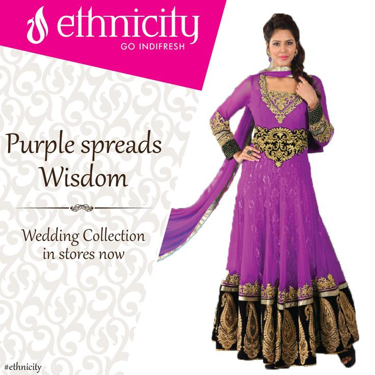 Color purple gives you a wise spirit. Take that spirit forward and spread the wisdom around. #wearpurple#ethnicity#indifresh#traditional#ethnic#traditionalwear#clothing#fashion#wedding#collection#colour#purple
