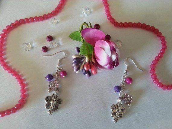 Flower Earrings di MagicBijoux su Etsy
