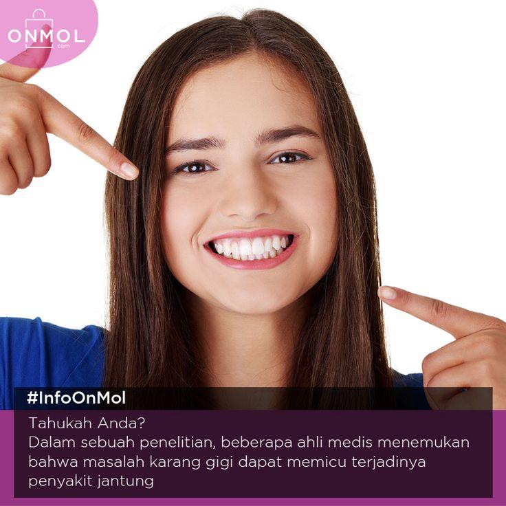 Ternyata gigi yang tidak terawat dengan baik bisa memicu munculnya penyakit berbahaya lho! Yuk, penuhi kebutuhan kesehatan gigi anda disini.. ... #OnMolID #Info #Fakta #Tips #kesehatan #gigi
