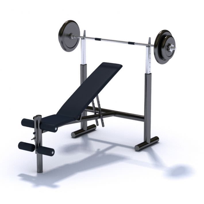 Gym Equipment Bench Press With Variable Seat Angle 3d Model Bench Press At Home Gym Gym Equipment