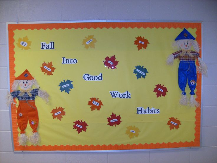 Classroom Decoration Teacher ~ Career counseling quot fall into good work habits bulletin