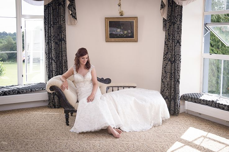 Bride in the bridal suite of Castleoaks House Hotel, Castleconnell, Limerick