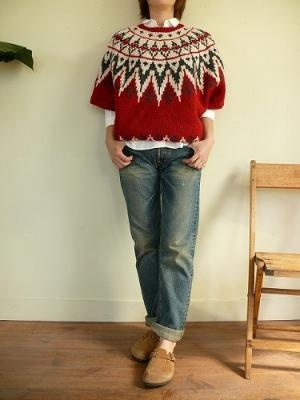traditional yoke sweater reworked into a modern layering piece - nice - i love how oversized this is.