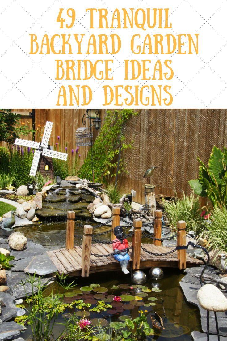 49 Backyard Garden Bridge Ideas And Designs Photos Wooden